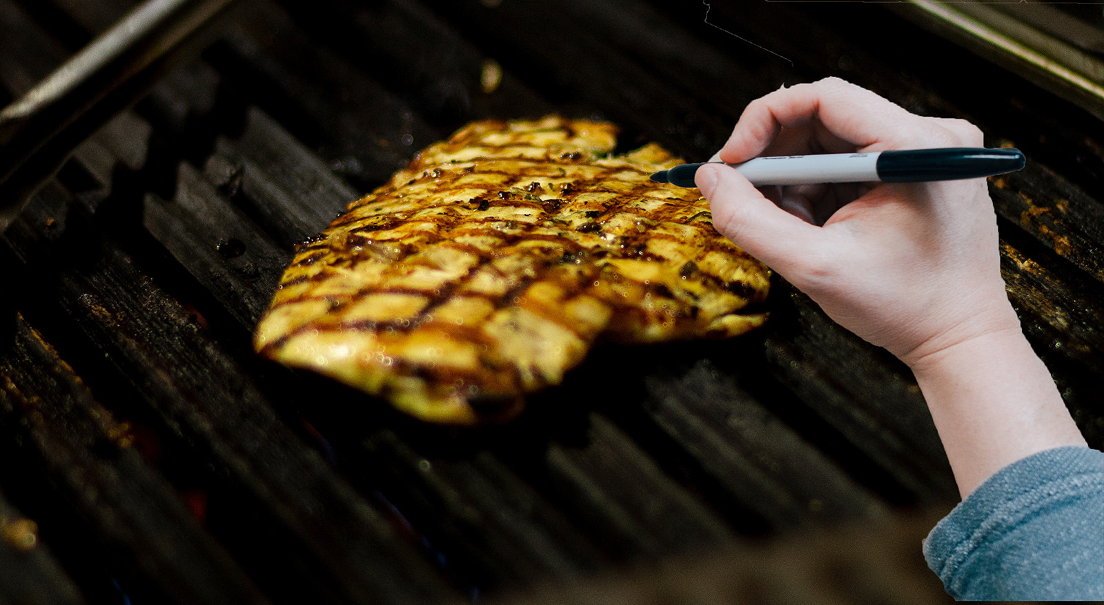 Cook Caught With Sharpie Creating Grill Marks